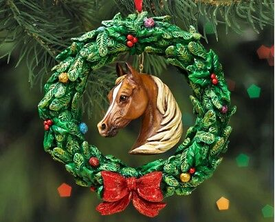 Breyer Holiday Collection #W700641 Equestrian Wreath Ornament - New Factory Sea