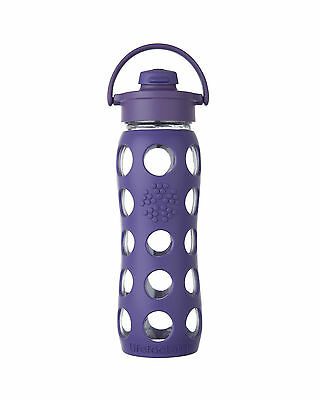 Lifefactory Borraccia in vetro Flip Cap Royal Purple 650ml
