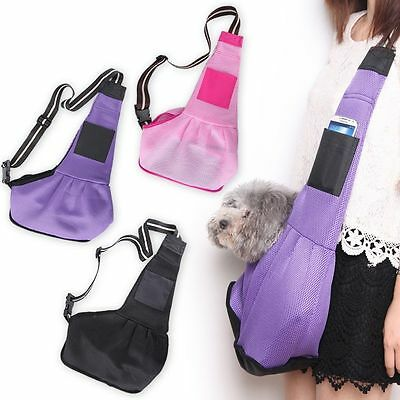 3 Sizes S/M/L Canvas Sling Pet Dog Puppy Cat Carrier Tote Slingle Shoulder Bag