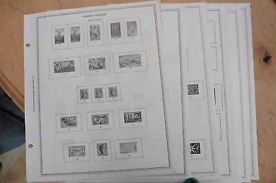 C80 Comoro Islands 13 Minkus pages 1950-1978 w/ 11 stamps
