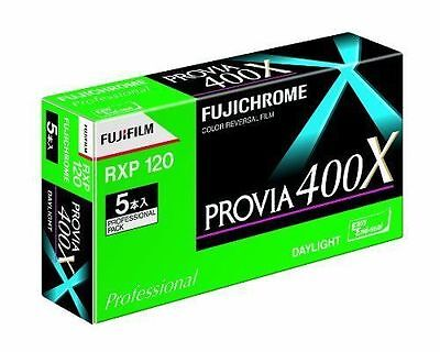 Fujifilm PROVIA 400X color reversal film Fujichrome 120film 5 rolls  from Japan