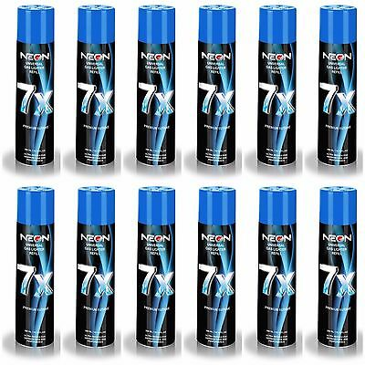12 BUTANE FUEL CANS NEON 7X Refined Gas Lighter Fluid for Torch Lighters 12 PACK