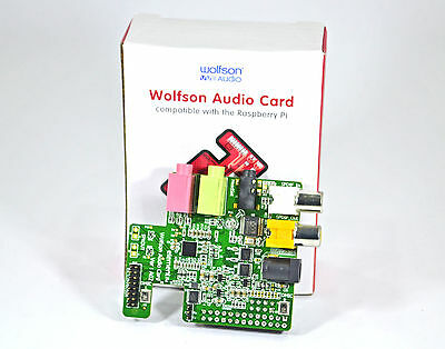 Raspberry Pi B Sound Card Wolfson Audio/Element 14 Audio in/out Interface DAC