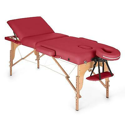 Light Weight Massage Folding Portable Table Bed Beauty Salon Couch Red 210 Cm
