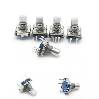 5Pcs Rotary Encoder Push Button Switch Keyswitch Electronic Components 12mm