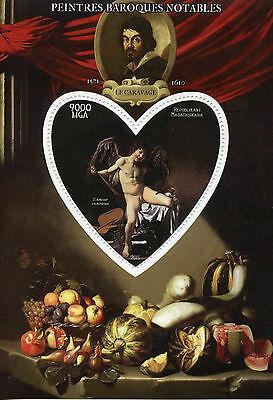 Madagascar 2015 MNH Caravaggio 1v S/S Art Baroque Paintings Stamps