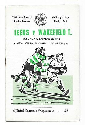 1961 - Leeds v Wakefield Trinity, Yorkshire Cup Final Match Programme.