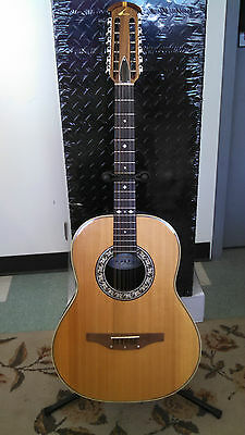 12 String Ovation Model 1115 Usa Has Had Repair