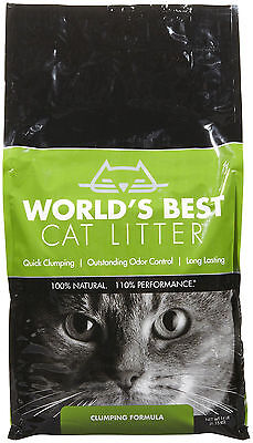 Worlds Best Cat Litter Clumping Formula Biodegradable Toilet Flushing Green