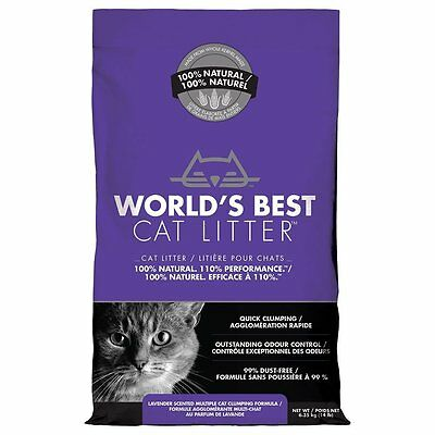 Worlds Best Cat Litter Clumping  Biodegradable Lavender Scented  Flushable