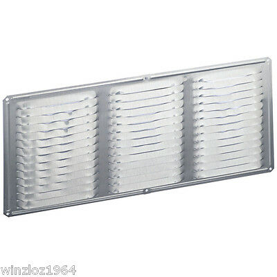"""6-Pk Air Vent Inc 16"""" x 4"""" Mill Aluminum Soffit Under Eve Vent With Mesh Screen"""