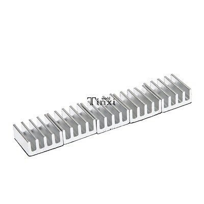 5xHigh Quality 11x11x5mm Adhesive Aluminum Heat Sink For Memory Chip IC TXWD