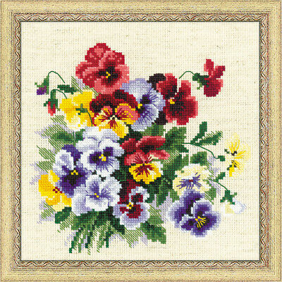 NEW Pansy Medley- Needlework
