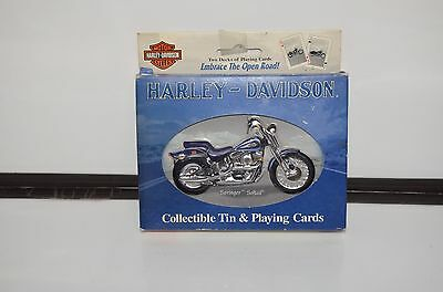 Harley Davidson Playing Cards Double Deck Tin Softail Springer Motorcycle