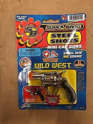 "Vintage Ja-Ru Toys Super Bang 4"" Diecast Mini Cap Gun ""wild West"" New Moc"