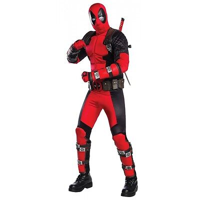 Deadpool Costume Adult Halloween Fancy Dress