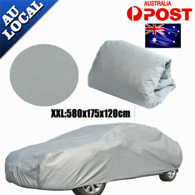 AU+Large Universal Full Car Cover Anti UV Dust Scratch Resistant Protection XXL+