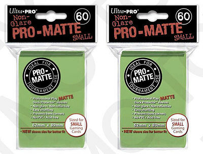 120 Ultra Pro Pro-Matte Small Mini Deck Protector Card Sleeves 84272 Lime Green