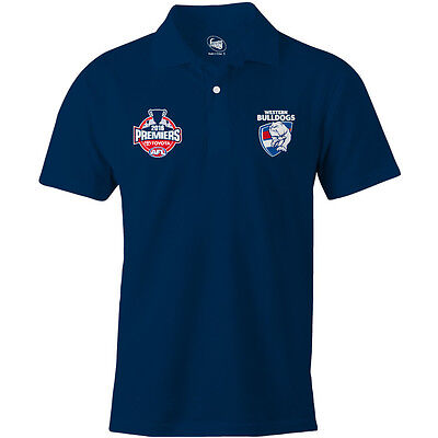 Western Bulldogs 2016 AFL Blue Premiers Polo Shirt 'Select Size' S-3XL Phase 2