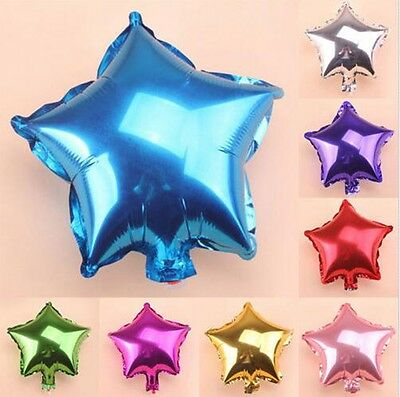"""1~10PCS 10"""" Five-pointed Star Helium Foil Balloon Wedding Decoration Party"""