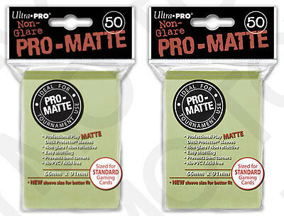 100 2pk ULTRA PRO Pro-Matte Deck Protector Card Sleeves Standard Bright Yellow