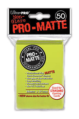 1200 24pk ULTRA PRO Pro-Matte Deck Protector Card Sleeves Standard Bright Yellow