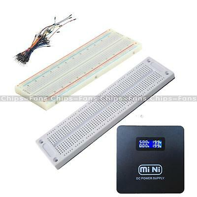 Prototype Mini Breadboard 700/830 Tie-points MB102 SYB 120 Jumper Cables Wire