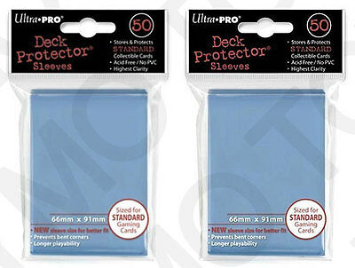 100 2pk ULTRA PRO Deck Protector Card Sleeves Magic Pokemon Standard Light Blue