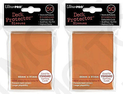 100 2pk ULTRA PRO Deck Protector Card Sleeves Magic Pokemon Standard Orange
