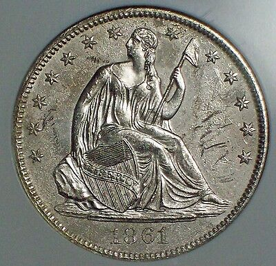 1861 O SILVER Half Dollar NGC SHIPWRECK EFFECT Sunk SS Republic CIVIL WAR 50C