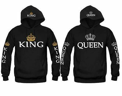Couple Hoodie Sweater King and Queen-Love Matching Hooded-Couple Hoodie WYQ