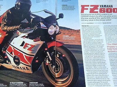Yamaha Fz600 # 1987 # Buyers Guide # 4 Page Original Motorcycle Article
