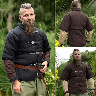 Padded Gambeson, Ideal For Re-enactment, Stage, Costume & LARP Black Or Brown