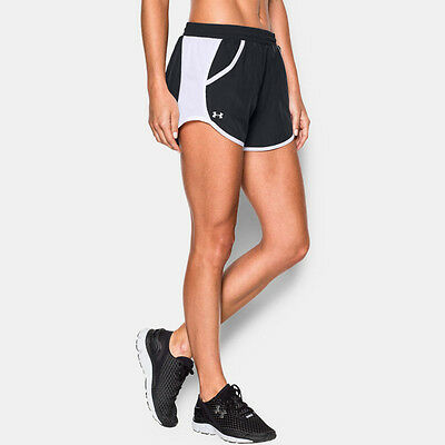 Under Armour Fly By Mujer Negro Absorbe Running Deporte Shorts Pantalones Cortos