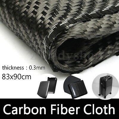 2X2 Twill 3K Carbon Fiber Origin Cloth Fabric Sheet 0.3mm For DIY 84 x 90cm