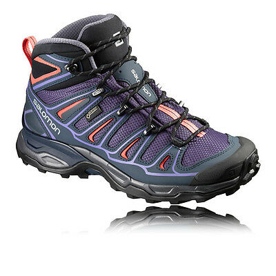 Salomon X Ultra Mid 2 Mujer Gore Tex Impermeable Excursionismo Zapatos Botas