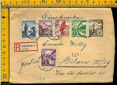 Germania Germany cover envelope Reich to italy Italia I 664