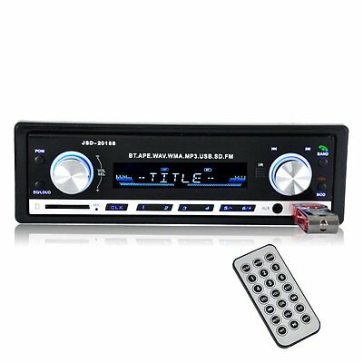 New 12V Bluetooth Car Stereo Radio Audio Car Mp3 player USB/SD/AUX/FLAC In-Dash