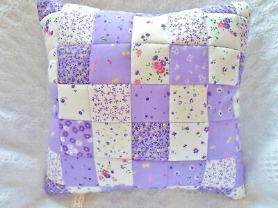 Patchwork Quilting Kit Cushion Beginners Great First Quilting Project In Lilac