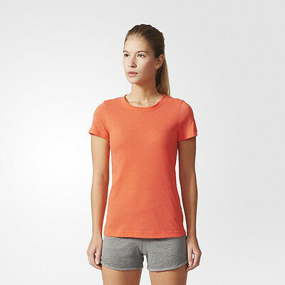 Adidas Aeroknit Femmes Orange Climacool Manche Courte Running T-shirt Tee Top