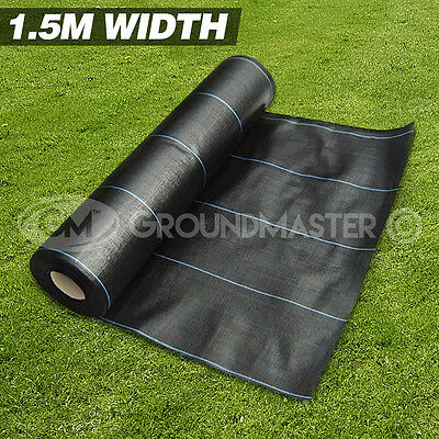 1.5M Wide Groundmaster™ Heavy Duty Weed Control Fabric Ground Cover  Membrane