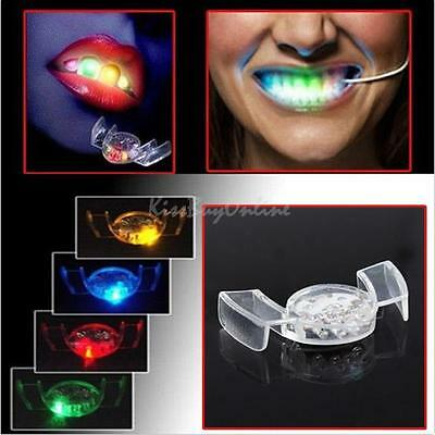 LED Light Up Mouth Guard Piece Flash Glowing Tooth Teeth Xmas Party Toy 4 Colors