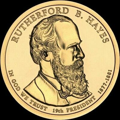 "2011 D Rutherford B Hayes Presidential Dollar ""Brilliant Uncirculated"" US Coin"
