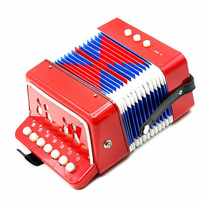 Fashion Beibeile Child Button Toy Accordion 7 Treble Buttons Keys 2 Bass Buttons