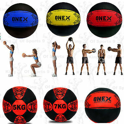 2KG - 10KG Medicine Ball Crossfit Strength Gym Fitness Boxing MMA Body Workout.~