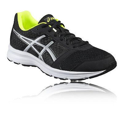 Asics Patriot 8 Hommes Noir Amorti Running Route Chaussures Baskets Sneakers