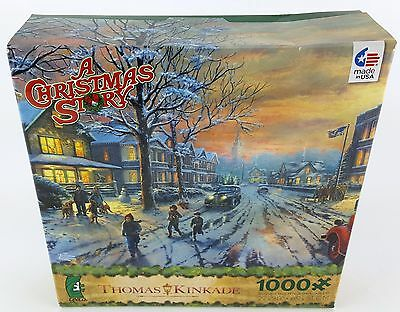 CEACO® 1000pc THOMAS KINKADE • A CHRISTMAS STORY™ • SHIMMER • PUZZLE Jig Saw