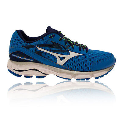 Mizuno Wave Inspire 12 Hommes Blanc Bleu Support Chaussures Baskets Sneakers