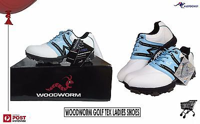 Woodworm Golf TEX K6291 Womens SIZE 38 UK 6.5 USA 7.5 EUR White Leather BNIB