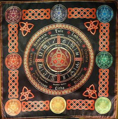 Tablecloth Cape Ritual Wheel of the Year Calendar small